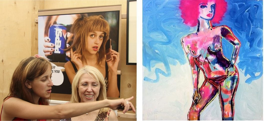 Kimi Wylde presents her work; Darren Macphereson's painting