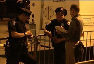 Phil & his NYPD friends. Wall Street Protest 2011