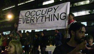 Occupy Everything. Wall Street Protest 2011
