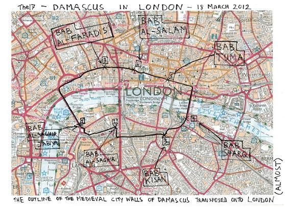 Bill Drummond Damascus - Map