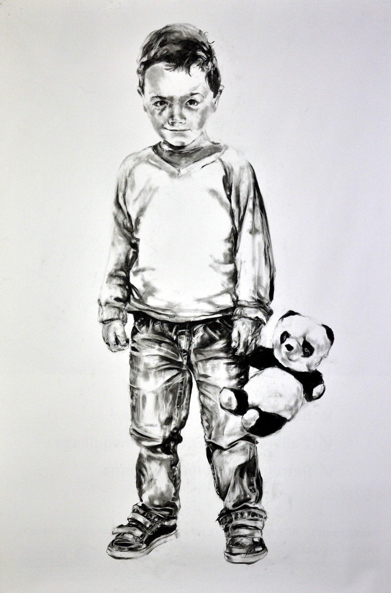 Frank Rannou, 'Marceau', Pencil on paper
