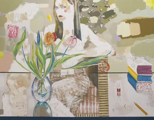 Martha Parsey: A Stitch in Time 2012 Oil on canvas 55 x 71 in / 140 x 180 cm