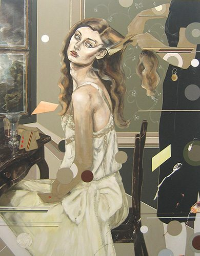 Martha Parsey: The Maids 2006 Oil on canvas 71 x 55 in/ 180 x 140cm