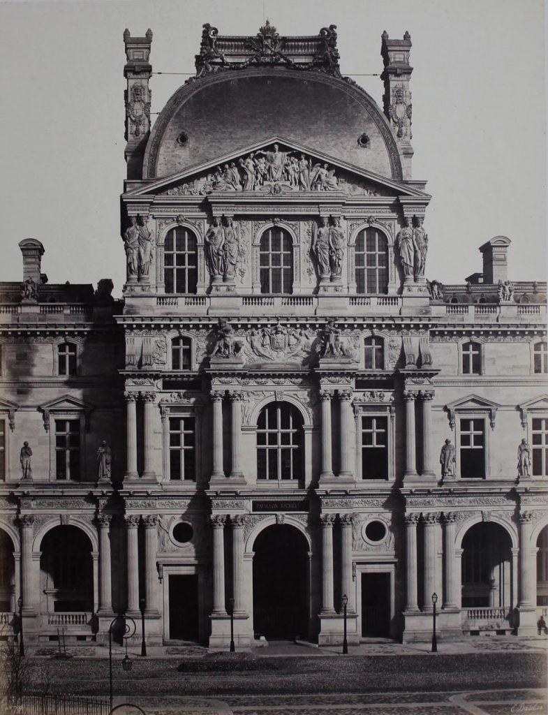 Edouard Baldus Pavillon Richelieu, Nouveau Louvre, Paris c. 1855 Salt print mounted on card45 x 34.5 cms