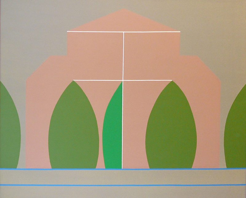 Derrick Greaves  Romanesque Symmetries  2006  Acrylic on Canvas  122 x 152.5 cms