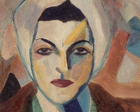 A self portrait of Saloua Raouda Choucair