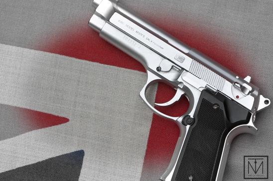 A picture of a handgun