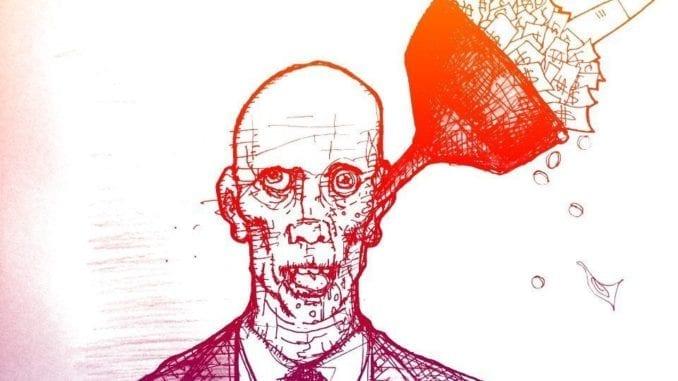A distopian businessman by Dan Booth