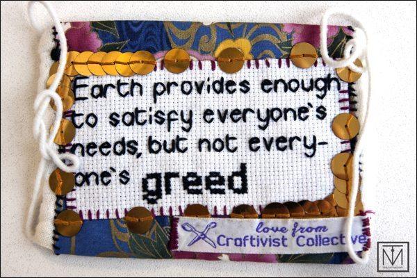 Craftivist mini banner