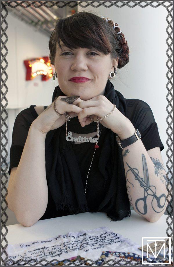 Craftivist Sarah 2