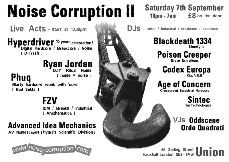 A flyer for Noise Corruption