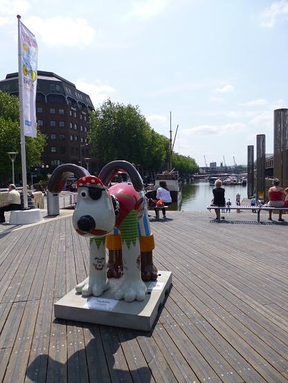 A picture of Gromit at the RWA exhibition in Bristol