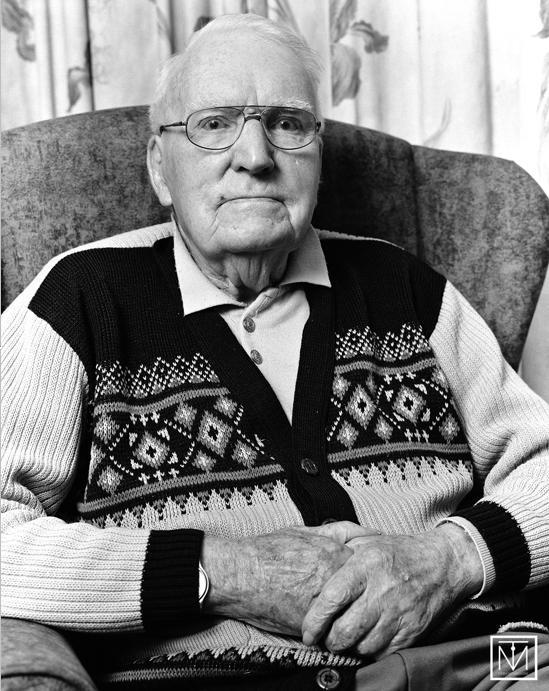 A pictureof an old man by Carl Byron Batson