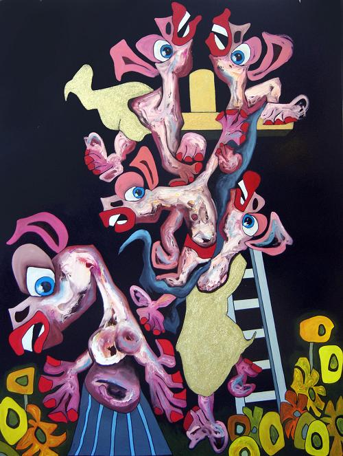 A picture of Deposition, Tom de Freston, 2013, oil on canvas, 200 x 150cm