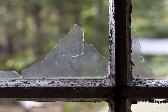 A picture of a broken window by Carl Byron Batson