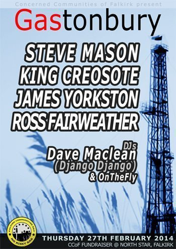 A poster for Gastonbury benefit, Falkirk