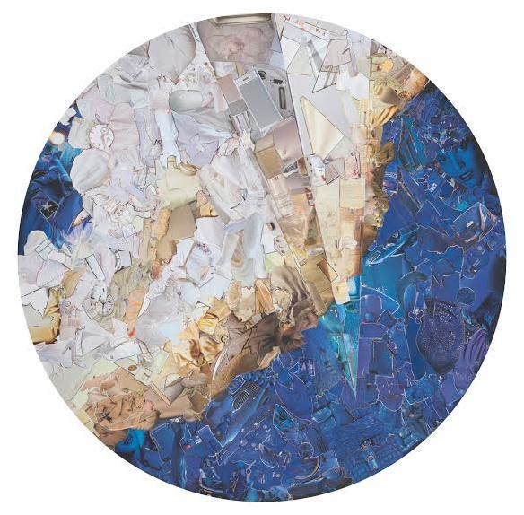 Pavel Brat, Looch, 2013, collage on canvas, 135 cm