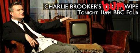 A promotional picture of Charlie Brooker's Screenwipe, amended