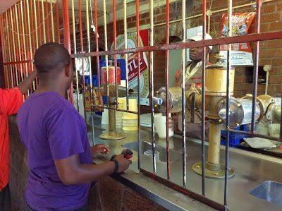 A chibuku bar in Mbare, Zimbabwe