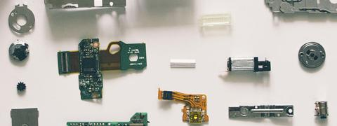 A picture of camera bits and pieces by Vadim Sherbakov
