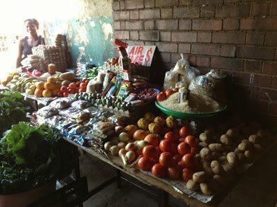 A fruit stall, Mbare, Zimbabwe