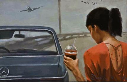 Dmitry Shorin, To go, 2013, oil on canvas, 95 x 148 cm