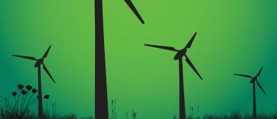 A picture of windmills by