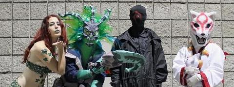 A picture of SWP / Masked Man with a group of cosplayers