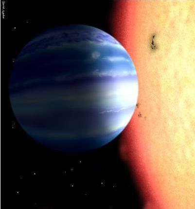 A picture of a water planet by David Aguilar
