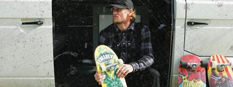 A promotional photo of Mike Vallely