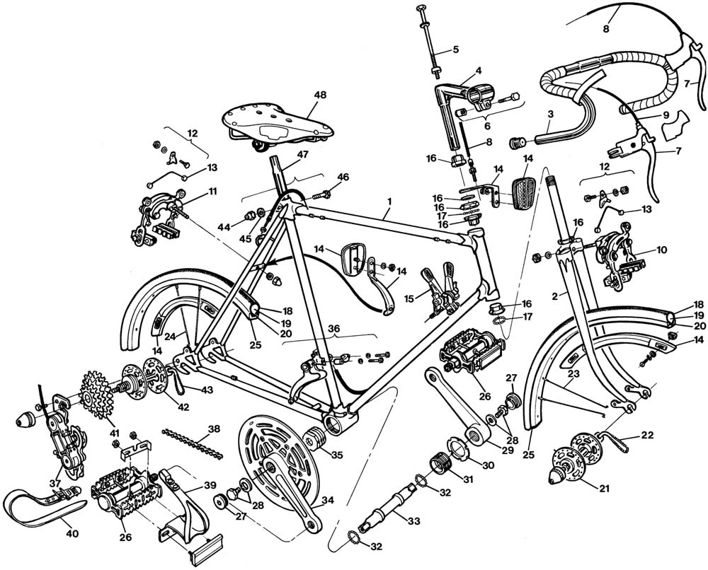 Exploded Bicycle Diagram Wiring Diagrams Data Base And A Road Bike Http Enwikipediaorg Wiki Listofbicycleparts Robert Louis Jefferson Trebuchet Magazine Rh Com On Gear For
