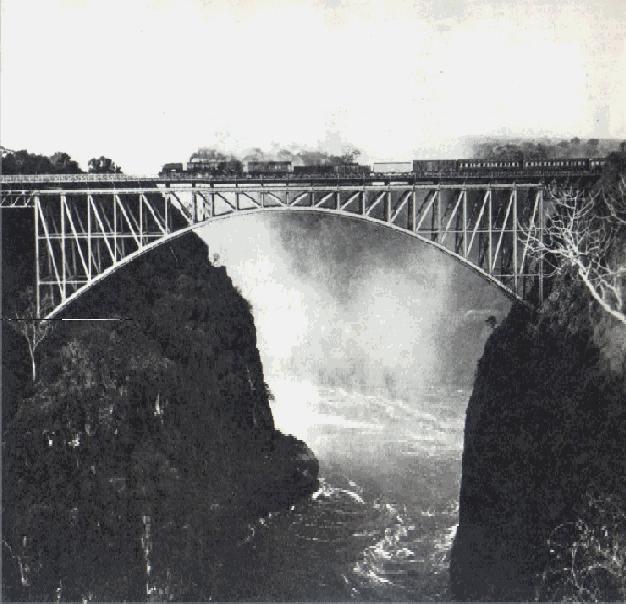 Train on Victoria Falls