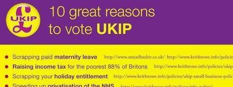 Spoof UKIP election leaflet