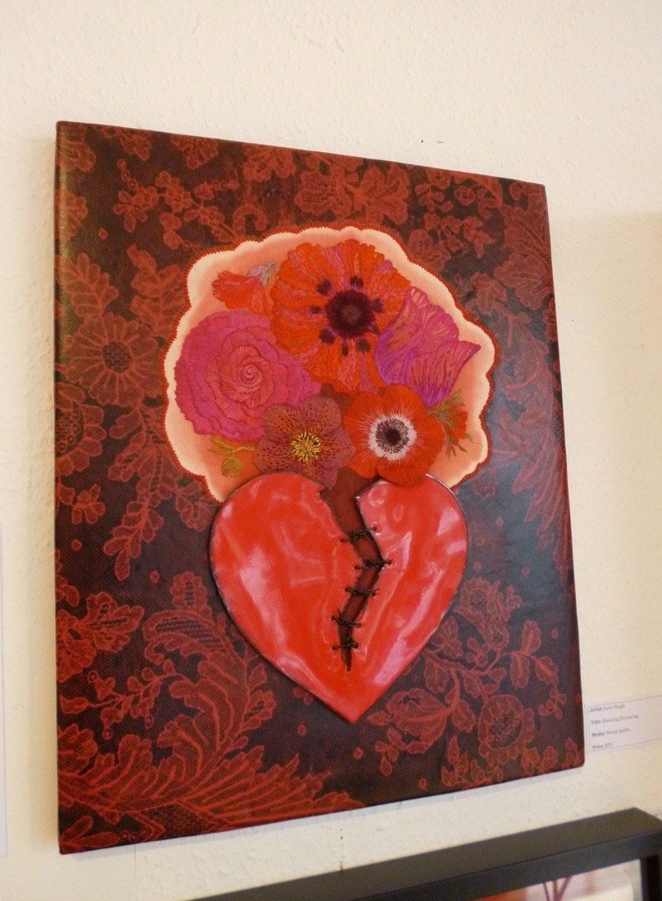 Janet Haigh's enamel heart piece