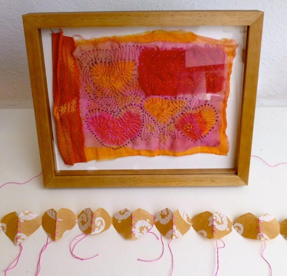 Susi Bancroft's Kantha stitched works