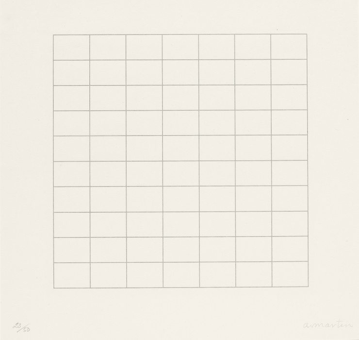 Agnes Martin On a Clear Day 1973