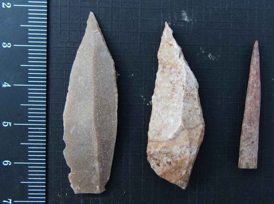 Paleolithic tools by Aaron Stutz, Emory University.