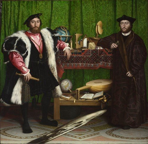 Hans Holbein the Younger Jean de Dinteville and Georges de Selve ('The Ambassadors') 1533 © The National Gallery, London