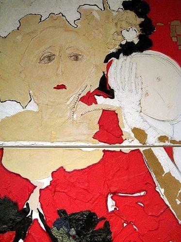 Malka Nedivi woman in red dress