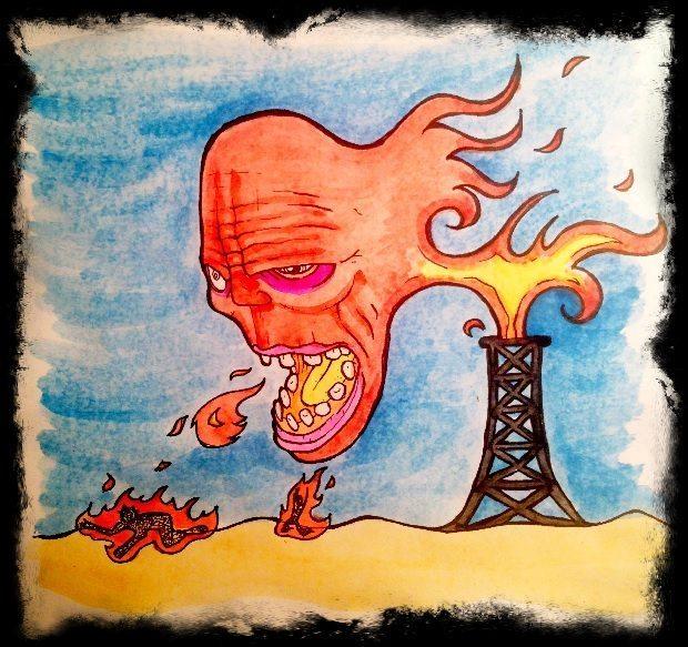 Oil demon illustration