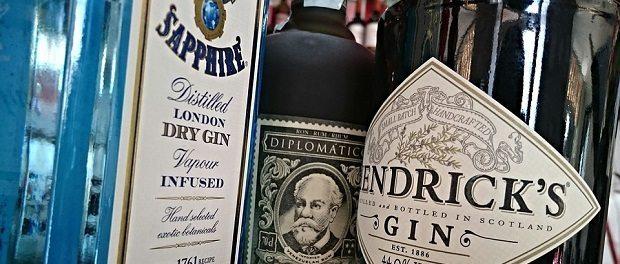 Gin bottles620