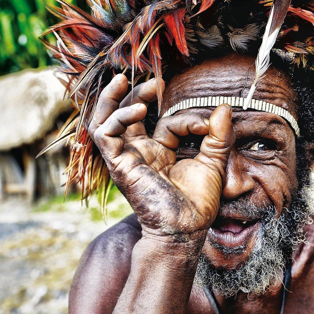 Dani man in West Papua by Magda Zelewska © Magda Zelewska