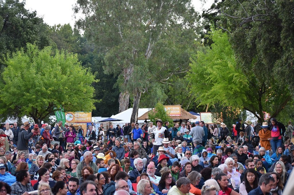 womadelaide audience, getting on a bit