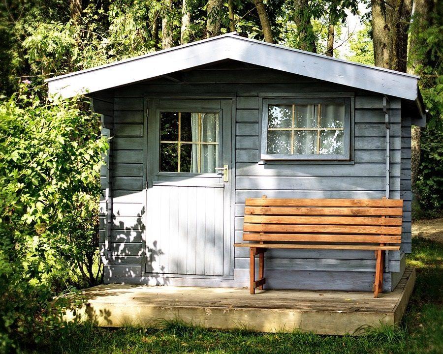 garden shed, downsized living