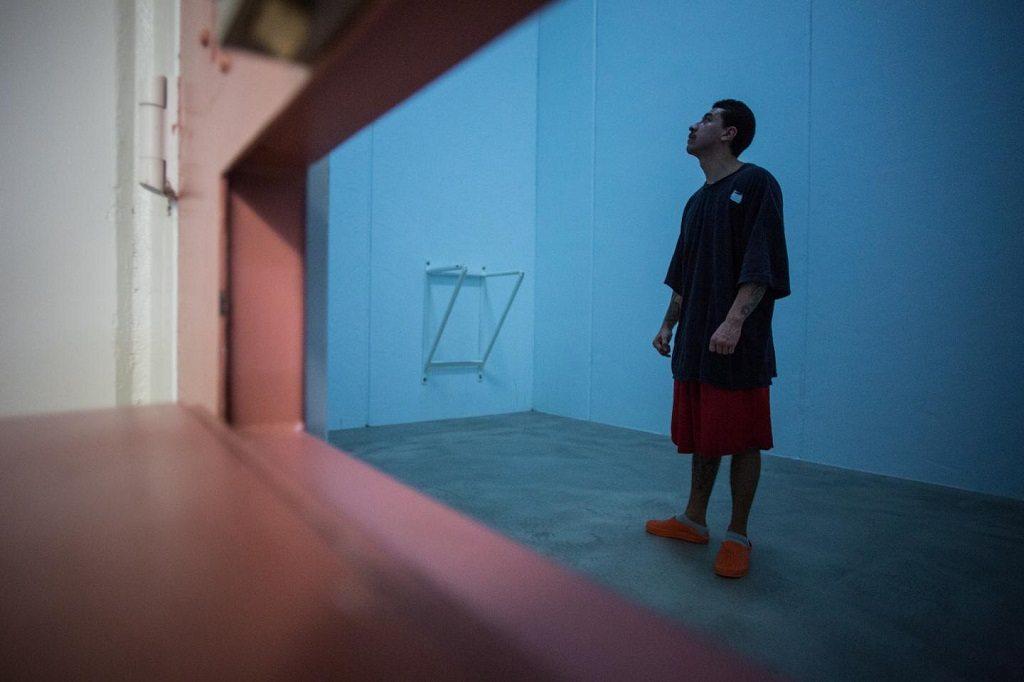 Inmate in Snake River's Blue Room by Benj Drummond