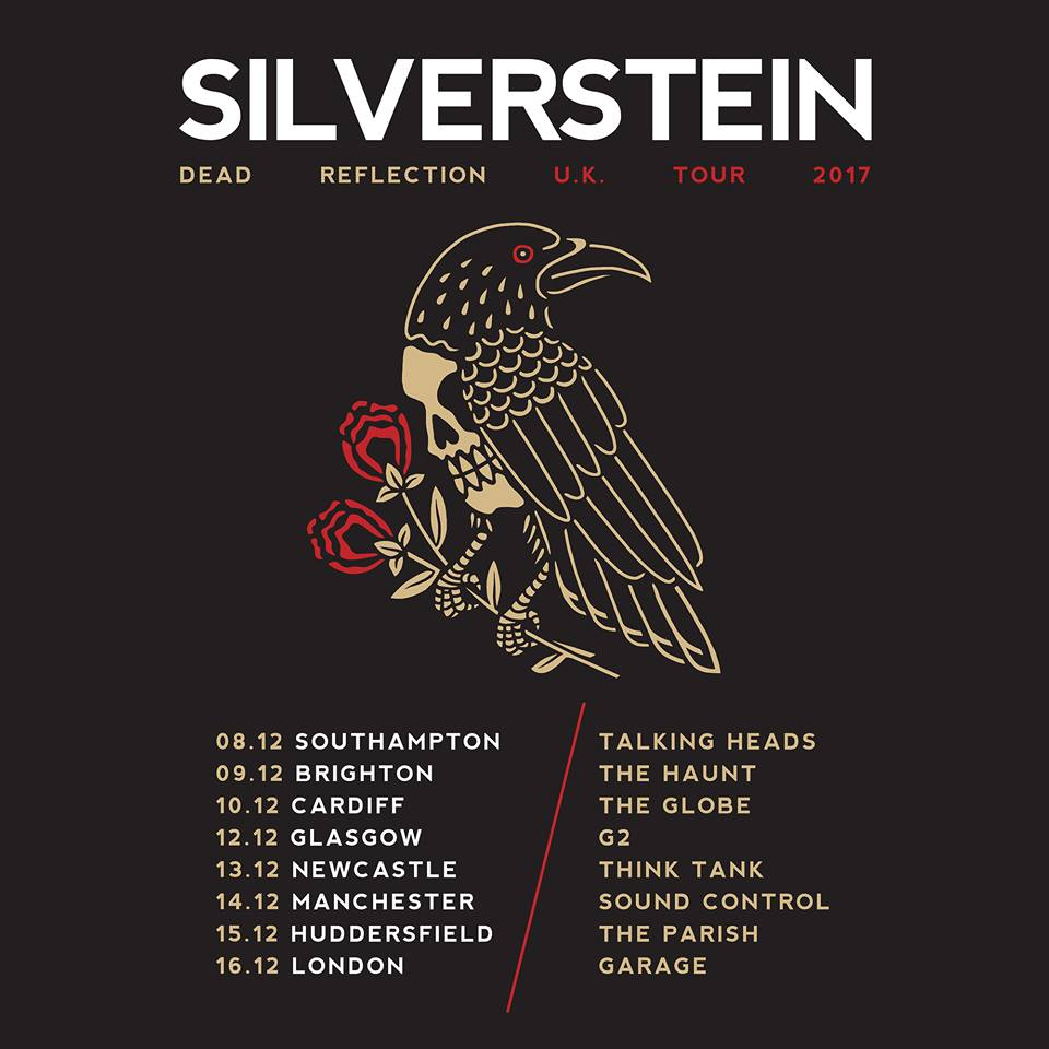 Silverstein 'Dead Reflections' UK Tour Poster