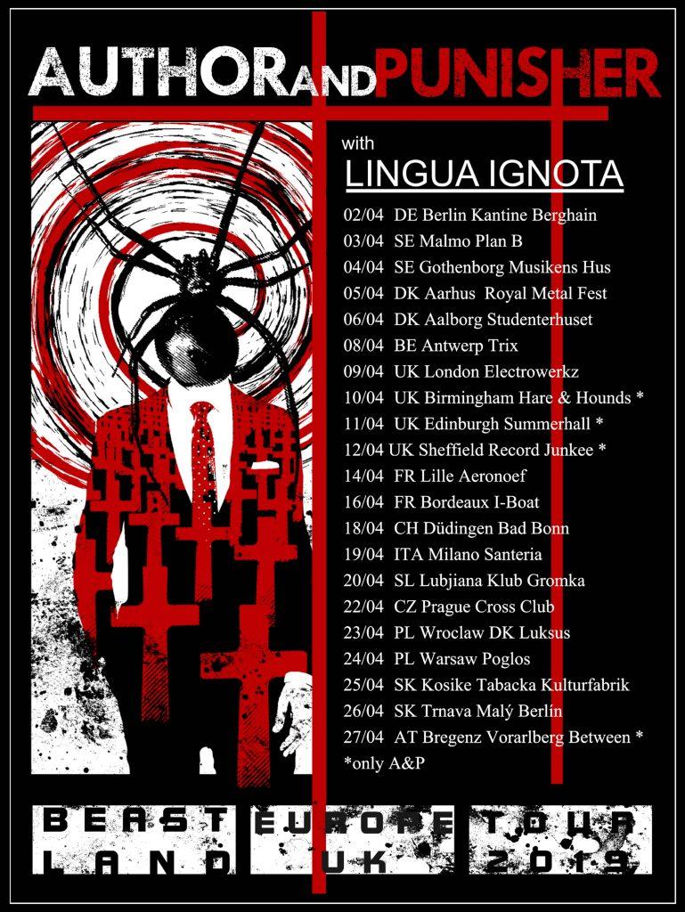 Author & Punisher tour dates