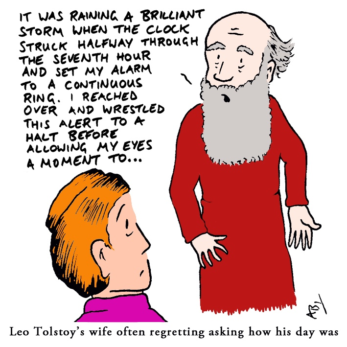 Tolstoy: Satirical Saturday Cartoon on Art by Alex Brenchley 2019